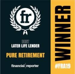 Best Later Life Lender - Pure Retirement - Winner - #FRA19