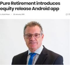 Pure Retirement introduces equity release android app
